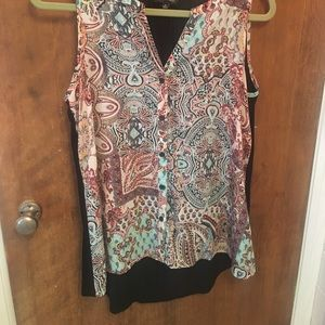 """Sleeveless top hangs lower 31"""" in back 26"""" front"""